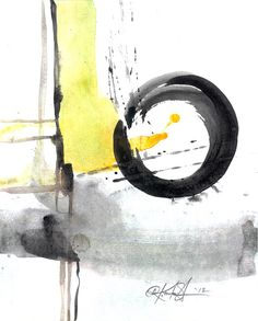 Enso Abstraction Series  106  Original by Kathy Morton Stanion