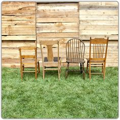Vintage Chairs - Assorted (chair for decorative purposes only)