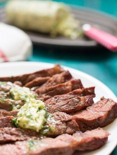 This Chimichurri Compound Butter is finger-licking good! Absolutely fantastic! Great garnish that's packed with flavor to impress your friends with this simple yet elegant recipe.