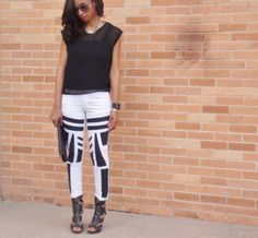 Cool DIY Fashion Ideas | Fun Do It Yourself Fashion projects | Learn how to refashion and sew jeans, T-shirts, skirts, and more | Tribal painted pants | http://diyprojectsforteens.com/cool-diy-fashion-ideas/