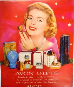 Retro Avon Christmas Cosmetics Magazine by mamiezvintage on Etsy, $9.95