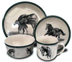 horse dinnerware