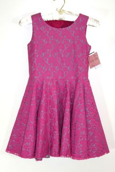 Zoe Ltd Girls Pink LACE Overlay Dress Size 10 $158 NEW SALE  #ZOELTD #DressyEverydayHolidayPageantWedding