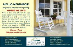 Alpine Lakes Real Estate - Honest, Trust and Neighborhood Expertise.
