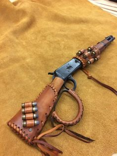 Details about Leather Gunstock /forearm Cover/Shell HolderFor Henry Mares Leg Rossi Ranch Hand