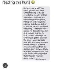 aaaahhhh this hurts 😭‼️ Quotes Deep Feelings, Hurt Quotes, Sad Love Quotes, Real Quotes, Mood Quotes, Quotes About Emotions, Quotes About Love Hurting, Quotes About Losing Friends, Breakup Quotes For Guys