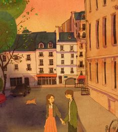 'Alley next to The Abbey Bookshop, Paris, France' Art Print by