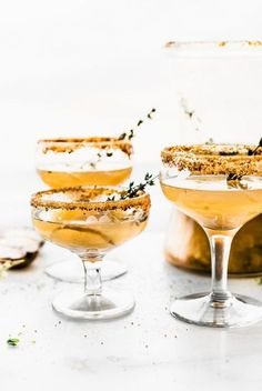 Celebrate the season with these Honey Roasted Pear Sparkling Cocktails and Mocktails! The easiest festive cocktails made with sparkling wine, champagne, or grapefruit juice, then blended with a honey roasted pear puree, honey, cinnamon and nutmeg, and a touch of vanilla! Simple, light, delicious.