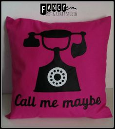 Call me maybe  cushion cover retro phone cushion by FancyEM