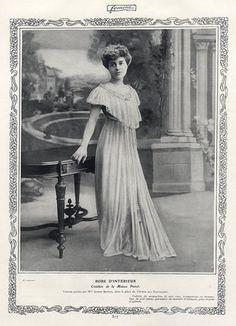 Paul Poiret (Couture) 1906 Jeanne Bernou, Photo Ogereau