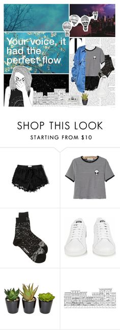 """""""flesh without blood"""" by rosebuscemi on Polyvore featuring Abercrombie & Fitch, Levi's, Issey Miyake, adidas, Brownstone, CASSETTE, INDIE HAIR, women's clothing, women's fashion and women"""