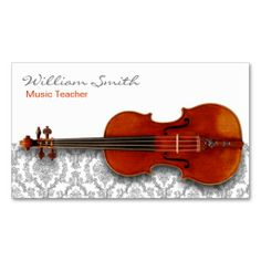 Music Teacher Business Card Template. Make your own business card with this great design. All you need is to add your info to this template. Click the image to try it out!