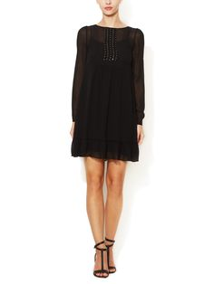 Silk Chiffon Beaded Dress by Vanessa Bruno at Gilt