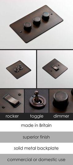 Dark Bronze Electrical Light Switch (126A)