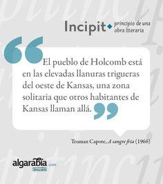 #incipit #asangrefría #capote #literatura