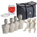 Prestan CPR Manikins and AED Trainer - The Complete Instructor Package.  These are the CPR manikins that I would prefer to use in the CPR classes I teach! The most realistic for the great prices!
