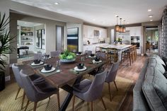 Cortesa in @ranchomv by Shea Homes So Cal Plan 1: Dining Room/Kitchen