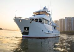 Steel expedition trawler yacht Bering 65