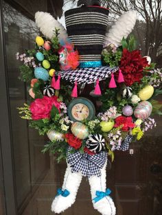 Mad Hatter Easter Wreath