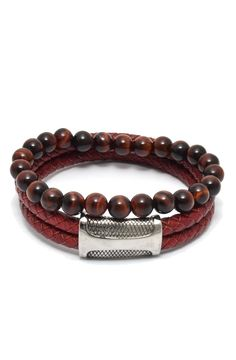 Red Leather and Red Tiger Eye Set – TAG TWENTY TWO