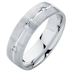 Men's wedding ring with diamonds!  Idk how he would feel about it but i like it