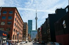 Toronto Financial District (Mark A. Cadiz, Cn Tower, Toronto, Community, Landscape, Street, Places, Travel, Voyage