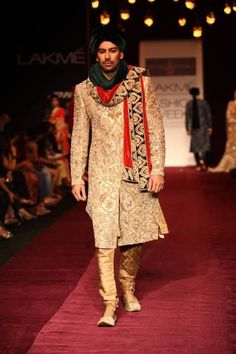 This embroidered sherwaani would make you look and feel like a Prince