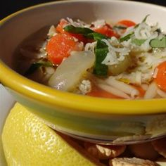 Lemon Chicken Orzo Soup Allrecipes.com