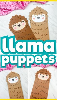 Cute Llama Paper Bag Puppet Craft - Paper Bag Crafts - If you're looking for an easy farm animal craft for kids to make, this llama paper bag craft is p - Farm Animal Crafts, Animal Crafts For Kids, Paper Crafts For Kids, Crafts For Kids To Make, Toddler Crafts, Dinosaur Crafts, Farm Animals, Kindergarten Crafts, Preschool Crafts