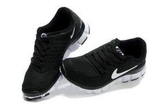 Womens Nike Free 5.0 V4 Black White #Black #Womens #Sneakers
