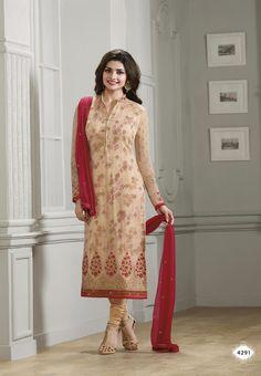 #Kaseesh #Prachi Indian #SalwarKameez Suit Vol22 4291 #Beige