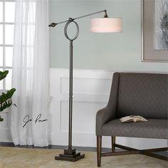 Uttermost Levisa Brushed Bronze Floor Lamp (28082-1)