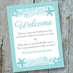 Destination Wedding Welcome Escort Card/Guest Book Sign