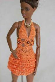 Luty Artes Crochet: Vestidos de bonecas .