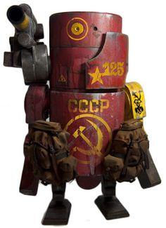 """Big Red"" | World War Robot (WWR) Series | Artist: Ashley Wood"