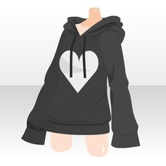 Black heart hoodie outfit reference