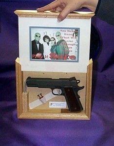 hidden compartment for gun -