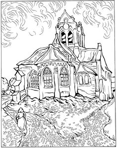 coloring page Vincent van Gogh on Kids-n-Fun. Coloring pages of Vincent van Gogh on Kids-n-Fun. More than coloring pages. At Kids-n-Fun you will always find the nicest coloring pages first! Art Van, Van Gogh Art, Cool Coloring Pages, Adult Coloring Pages, Coloring Books, Coloring Sheets, Kids Coloring, Vincent Van Gogh, Paintings Famous