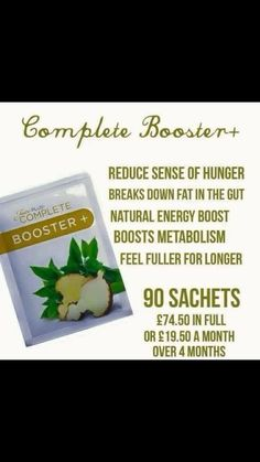 Juice Plus Complete - Booster   £19.50 per month     To find out more about the amazing range of Juice Plus products and business opportunities, contact me at SarahBaptiste1979@gmail.com or add me on Facebook www.facebook.com/sarah.baptiste.526