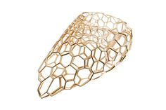 skein ring by zaha hadid for caspita resembles cell structures - designboom | architecture & design magazine