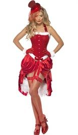 Even iets anders als een standaard #kerstvrouw jurkje. #Kerstjurk in burlesque stijl met korset. Hoedje is los te bestellen!