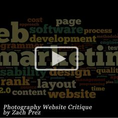 Dozens of web optimization ideas in just ten minutes with this incredible video critique for a family photographer
