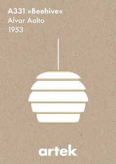 Alvar Aalto, Beehive Pendant Lamp, 1953: Artek abc Collection