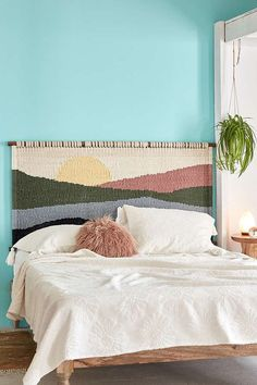 Shop Mountain Sunrise Headboard at Urban Outfitters today. We carry all the latest styles, colors and brands for you to choose from right here.