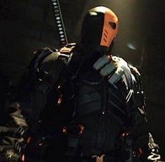"Slade Wilson a.k.a. Deathstroke played by Manu Bennett. Introduced in season one of CW's ""Arrow."""