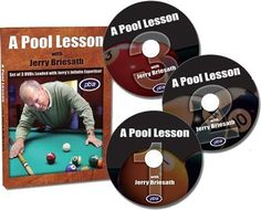 """A Pool Lesson With Jerry Briesath DVD by Billiard Congress of America. Save 14 Off!. $59.95. In A Pool Lesson With Jerry Briesath DVD, PBIA Master Instructor Jerry Briesath presents the most informative and exhaustive instructional DVD set in the world. An internationally recognized authority on pool billiards, he was named by the BCA as """"The Dean of Master Instructors"""" and for more than three decades he has been considered the nations top instructor. This DVD set includes more ..."""
