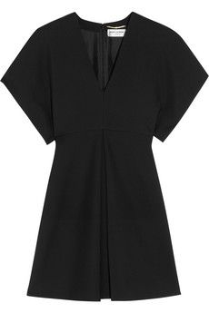Saint Laurent Wool-gabardine mini dress | NET-A-PORTER