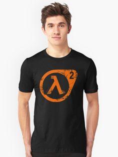 """ Half-Life Lambda Logo Symbol Black Mesa Orange"" T-shirt by AroPhobia Redbubb , My T Shirt, V Neck T Shirt, Gordon Freeman, 2 Logo, Half Life, Orange T Shirts, Logo Nasa, Tshirt Colors, Chiffon Tops"