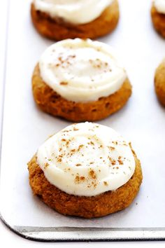 My favorite pumpkin cookie recipe! These soft and delicious pumpkin cookies are iced with a heavenly cream cheese frosting, and are the perfect treat for fall dessert baking. So delicious! Soft Pumpkin Cookie Recipe, Iced Pumpkin Cookies, Spiced Pumpkin, Pumpkin Spice, Pumpkin Puree, Fall Dessert Recipes, Fall Recipes, Delicious Desserts, Apple Recipes