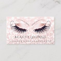 Shop Makeup Artist Event Lashes Beauty Pink Gray Blush Appointment Card created by luxury_luxury. Black Makeup Artist, Eyelash Logo, Lashes Logo, Beauty Lounge, How To Attract Customers, Beauty Studio, Appointment Card, Standard Business Card Size, Age